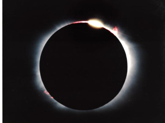 Jack Brisbin of Canton took this photo of the total solar eclipse on July 11, 1991, La Paz, Mexico. Totality there was 6 minutes, 53 seconds.