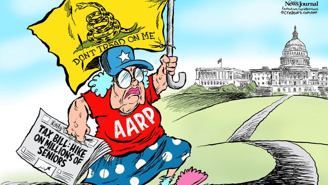 Tax Bill and AARP commentary by Andy Marlette