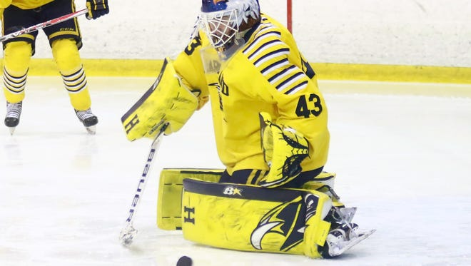 Hartland goalie Andrew Heuwagen made all-state as a junior, but was the back-up during the Eagles' run to the state Division 2 championship.