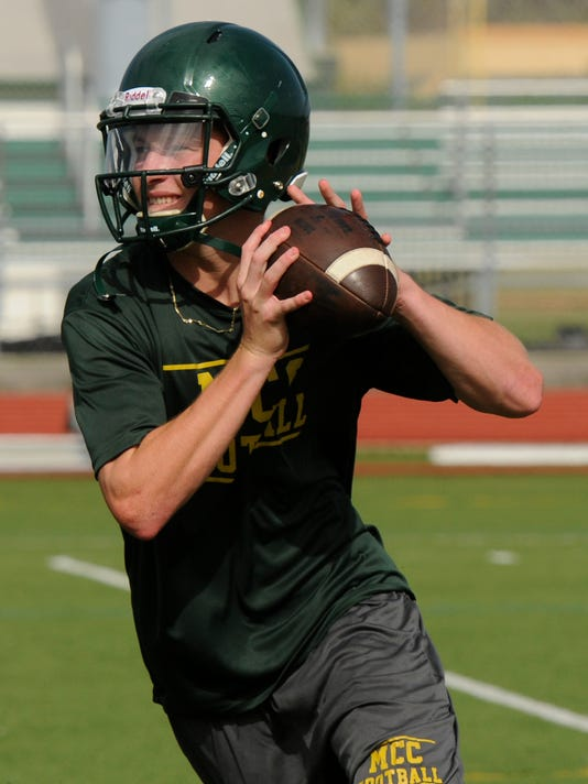 High School Football: Melbourne Central Catholic Football Practice