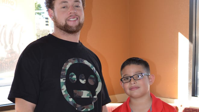 Brandon Chelette is 'big brother' to Gabriel Gonzales, age 8. James and Gabriel Gonzales are brothers.