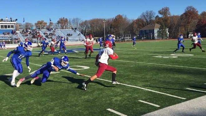 The Metuchen High School football team defeated Highland Park 41-8 on Thursday.