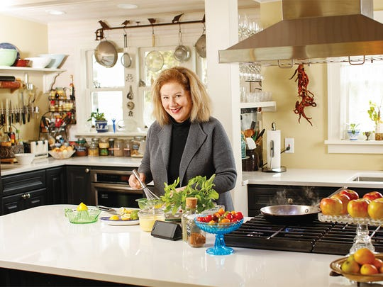 Alysa Plummer in her kitchen.