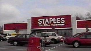 The Staples store at 1500 Old Hickory Blvd. in Hermitage closed on Saturday.