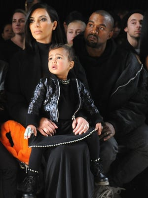 Kim Kardashian and North West (and Kanye West) in 2015.