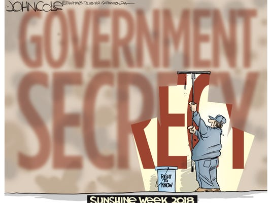 Cartoon: Government secrecy and the right to know