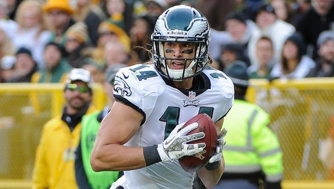 Philadelphia Eagles wide receiver Riley Cooper caught eight touchdowns last season.