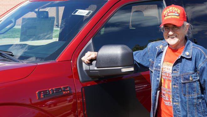 David Cassara test drove a Ford Truck on Monday at an event sponsored by Pat Milliken Ford.