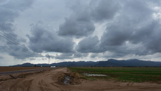 Storm clouds from all over the Phoenix area on Sept. 22, 2016.