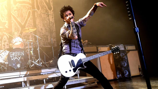 Billie Joe Armstrong of Green Day performs at the Hollywood Palladium on October 17, 2016, in Los Angeles.