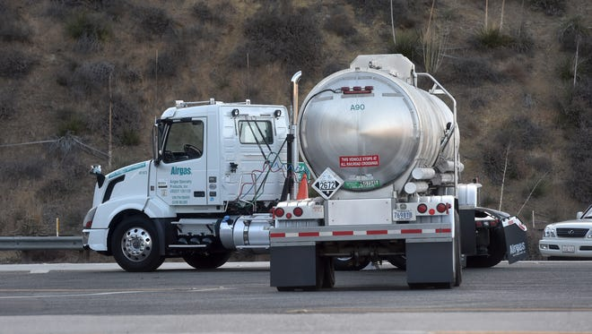 The truck scales on the northbound Highway 101 Conejo Grade were shut down Wednesday as authorities investigated a chemical leak discovered during a vehicle inspection.