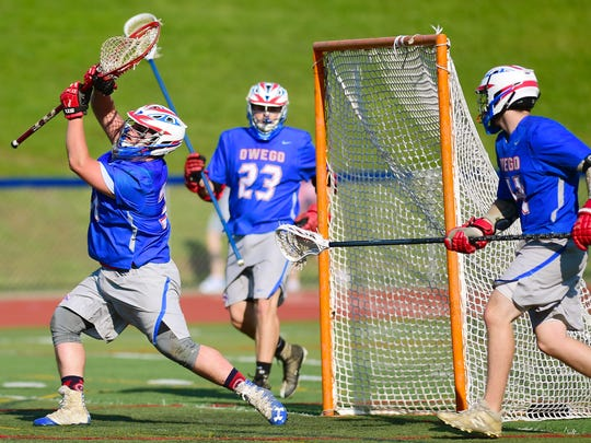 Johnson City vs. Owego championship boys lacrosse at Chenango Forks High School, May 24, 2018.