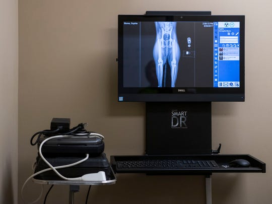 An x-ray machine is seen at the new Stone Ridge Animal Care facility in Evansville, Ind.