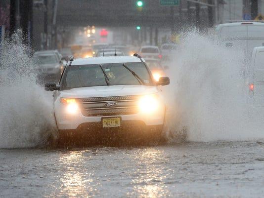 Raining in North Jersey