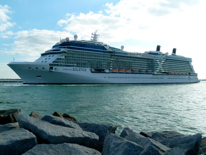 The 122,000-gross-ton, 2,850-passenger Celebrity Solstice