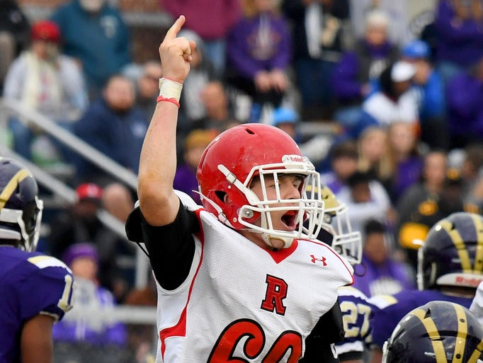 Riverheads' Bryan Hostetler celebrates as they recover