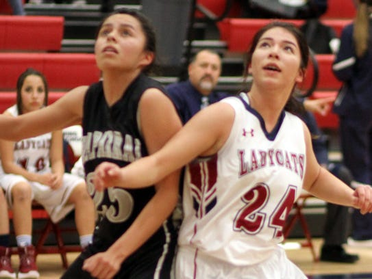 Lady Cat forward Brooke Huerta (24) positions for a