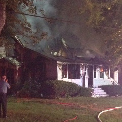 A man and woman have been badly burned and four children escape a house explosion near Maryville, Ill. Monday evening.