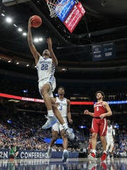 Shai Gilgeous-Alexander had 19 points with eight assists in the Wildcats' 86-63 win over Alabama in St. Louis Saturday afternoon, their 11th consecutive win at the conference tournament. March 10, 2018