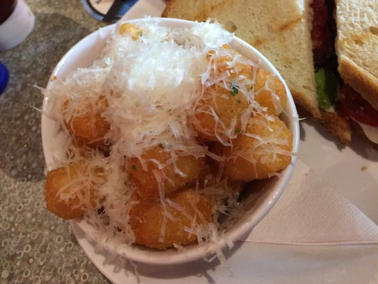Red Eye Brewing Co. Parmesan truffle tater tots.
