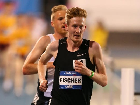 Reed Fischer, winner of the 5,000 meters on Thursday at the Drake Relays.