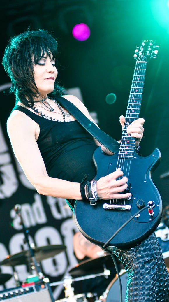 Singer/guitarist Joan Jett of Joan Jett and the Blackhearts