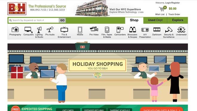 B&H is a terrific online electronics shop.