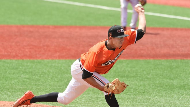 OSU sophomore pitcher Luke Heimlich tossed a shutout against UCLA on Sunday in the Beavers' final game of the season.