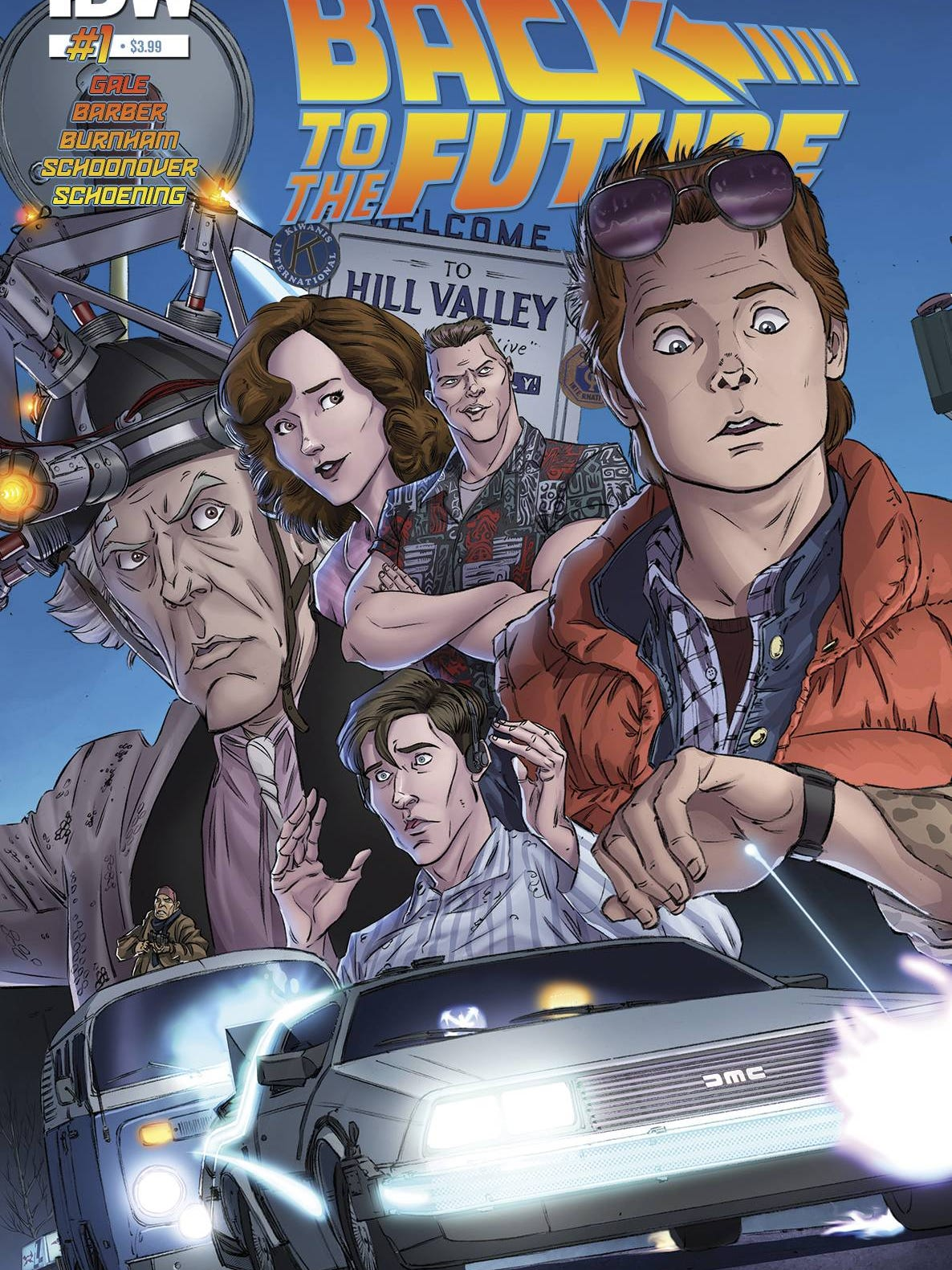 BACK TO THE FUTURE #20 FUNKO ART COVER IDW PUBLISHING