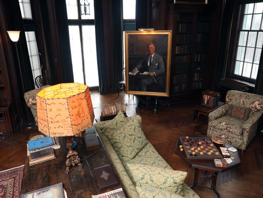 The living room in the home of Franklin D. Roosevelt,