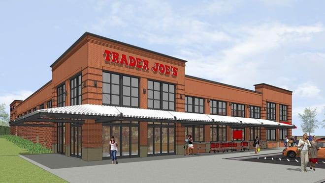 A preliminary rendering of the new Trader Joe's location in Coralville.