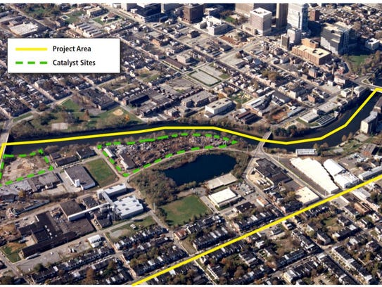 Area where redevelopment will occur on the Brandywine
