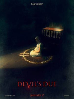 The first poster for the new horror film, 'Devil's Due.'