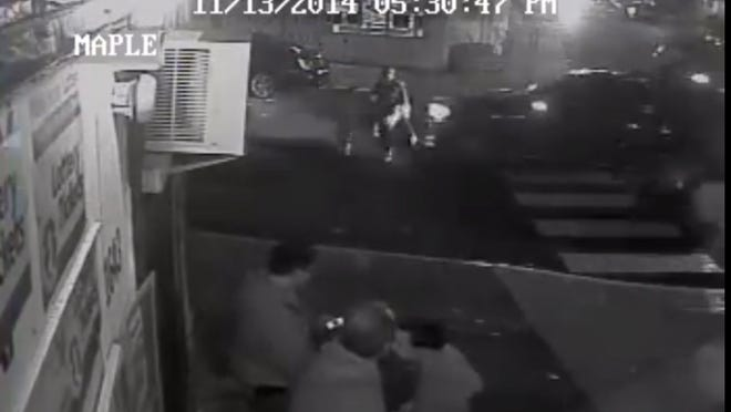 Surveillance video shows the moments before a hit-and-run driver struck a woman and her 5-year-old son in Woodlynne.