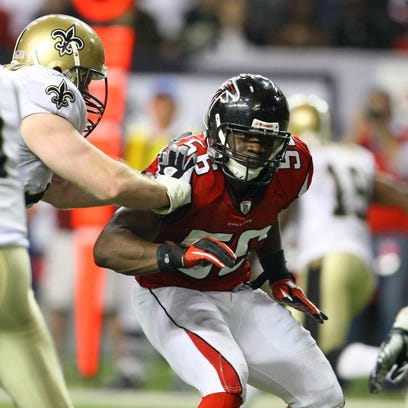 Dec 27, 2010; Houston, TX, USA; Atlanta Falcons linebacker