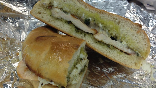 The Grilled Chicken and Pesto Focaccia from A Touch of Italy Deli in Fort Myers.