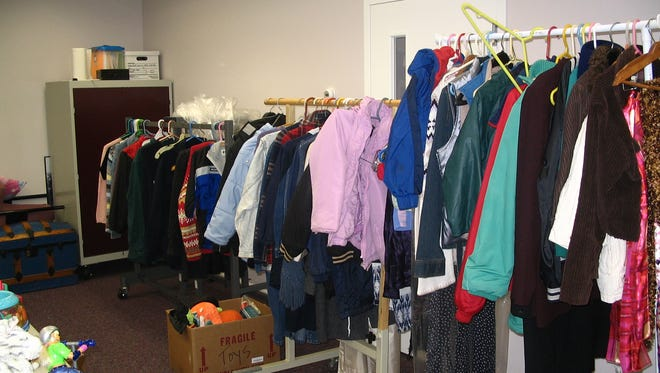 Coats and warm clothing for those in need at the Ocean Community Church food pantry.