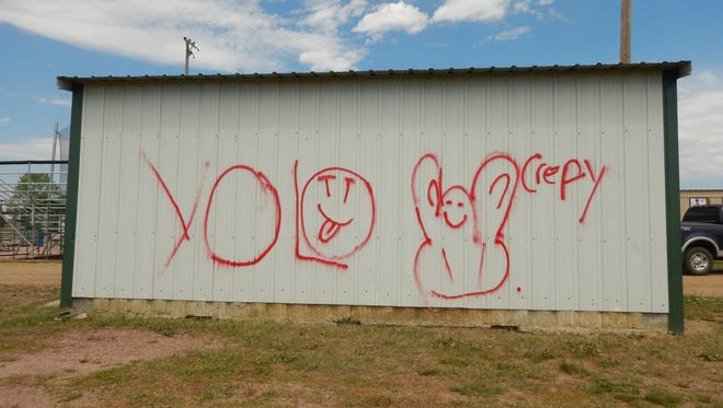 The Lincoln County Sheriff's Office is investigating a vandalism reported at Harrisburg baseball fields May 14, 2017.