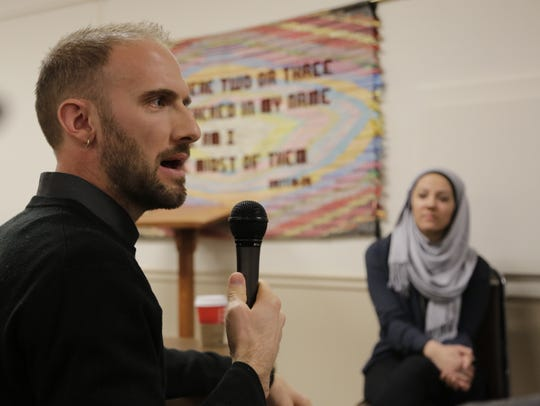 Marc Smith, who helped bring Muslim students to talk