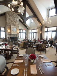 View of the dining area in the newly built clubhouse