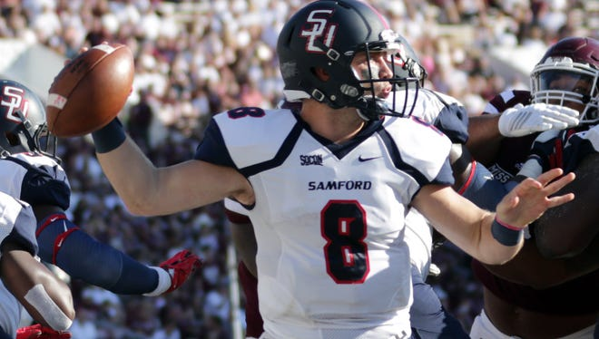 Samford quarterback Devlin Hodges passed for 468 yards and four touchdowns against Mississippi State.