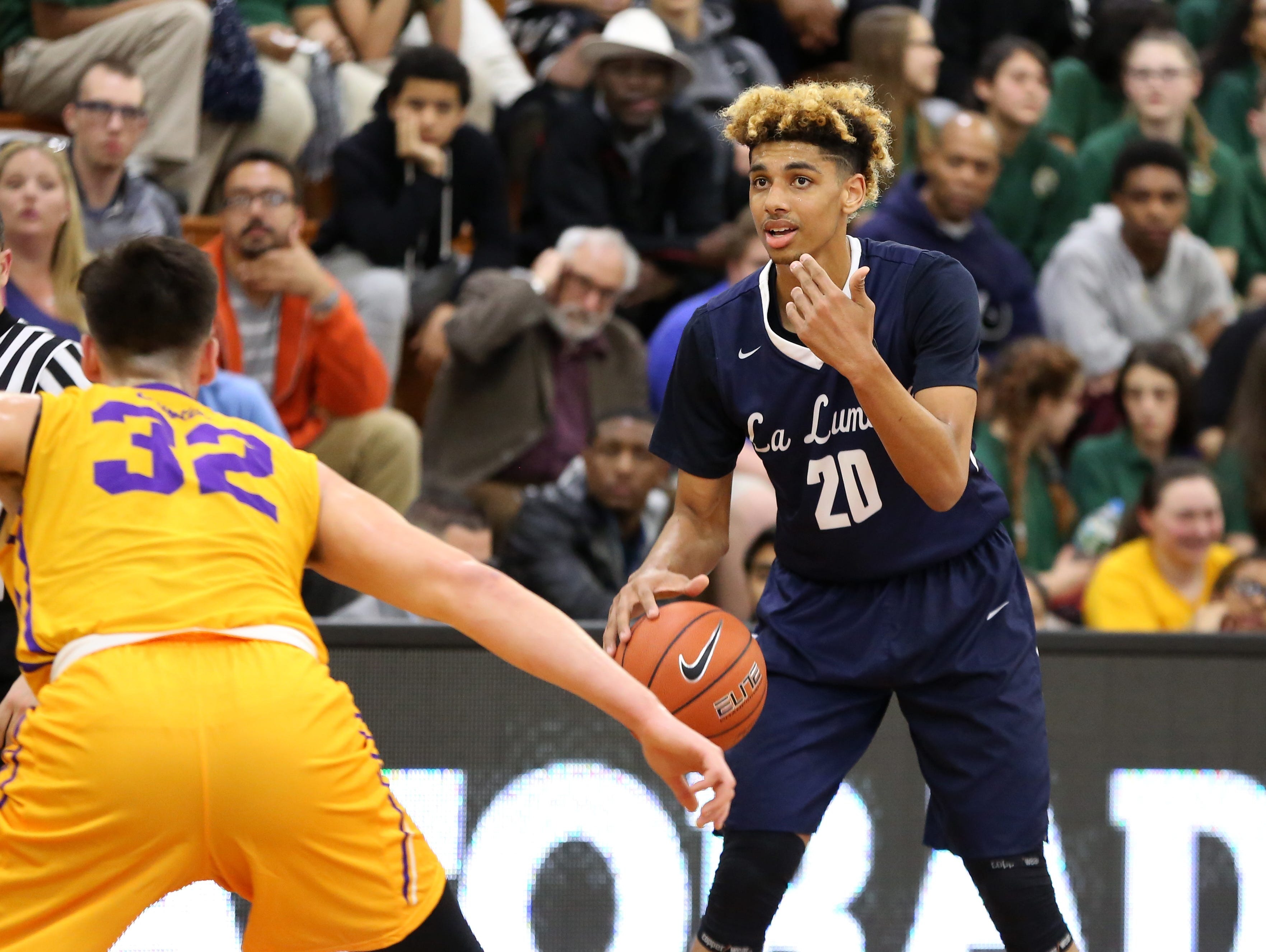La Lumiere's Brian Bowen at the DICK's Sporting Goods High School National Basketball Tournament in April. Bowen is uncommitted, but Michigan State appears to be the front-runner.