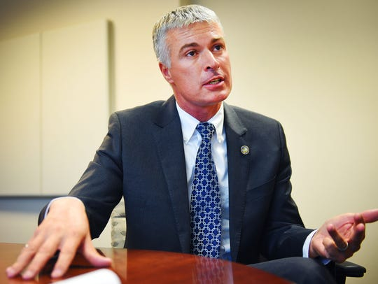 Attorney General Marty Jackley, Monday, Oct. 2, at