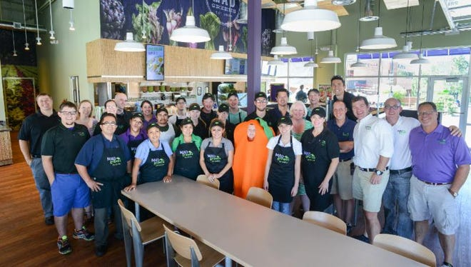 Mad Greens is hiring for upcoming locations in Scottsdale and Tempe. The restaurants are the first in Arizona. The company has 14 in Colorado. This file photo was taken in Denver.