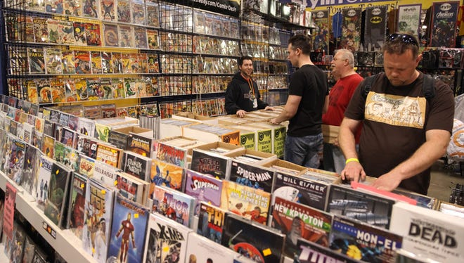 Fans filled the Suburban Collection Showplace during opening day of the Motor City Comic Con on May 13, 2016.