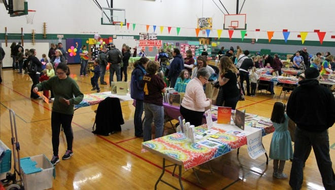 Families attend the first Family Literacy Night at Omro Elementary School in 2016. The second annual event is from 5:30 to 7 p.m. Thursday at the school.