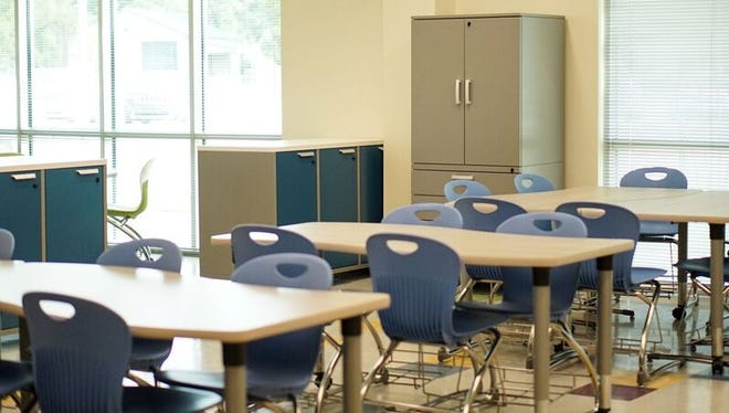 The new classrooms at Milton Elementary/Middle emphasize collaborative spaces and natural light.