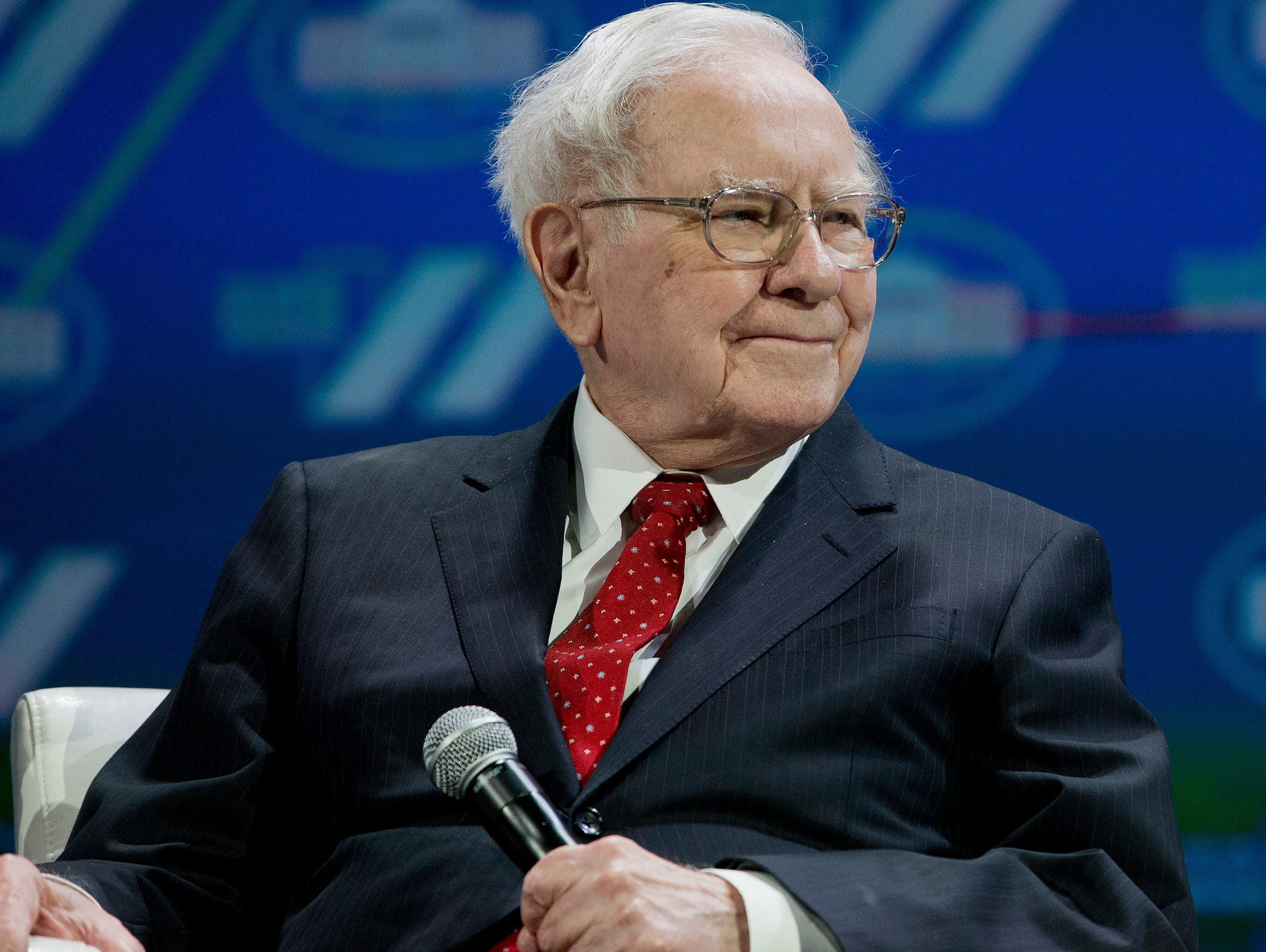 Berkshire Hathaway CEO Warren Buffett attends the White