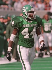Ike Reese during his playing days at Michigan State.