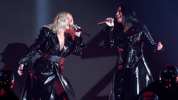 Christina Aguilera and Demi Lovato delivered an epic
